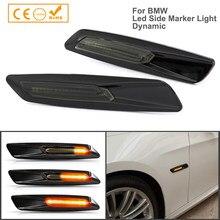 Luz Led dinámica de señal de giro para BMW, luz intermitente secuencial para guardabarros lateral, E82, E88, E90, E91, E92, E93, E60, E61