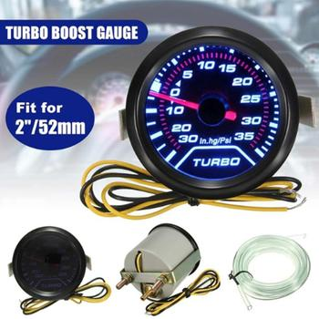 Uniwersalny 52mm 2 #8222 LED Car Boost Vacuum Turbo Boost miernik ciśnienia miernik tarcze Turbo Boost Gauge czujnik miernika i uchwyt tanie i dobre opinie 300 g Tachometer 5263529 Metal 12cm Support car accessories