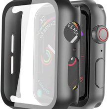Case Apple Watch Iwatch-Series Screen-Protector Tempered-Glass Coverage 40mm 42mm
