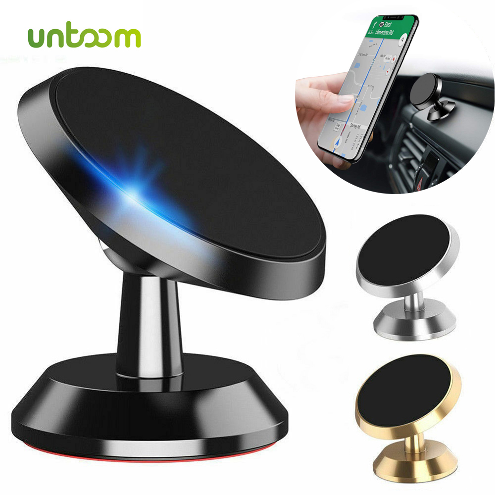 Untoom Car Phone Holder Magnetic Universal Magnet Phone Mount for iPhone X Xs Max Samsung in Car Mobile Cell Phone Holder Stand
