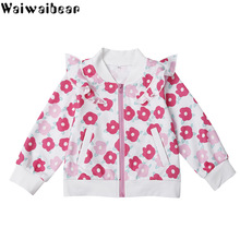 Baby Girls Coats Hot Sale Autumn New Kids Cotton Jacket Zip Long-sleeved Coat Clothes for