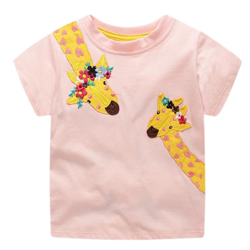 Girls T-Shirt Kids Tops Toddler Boys Cotton Cartoon Summer