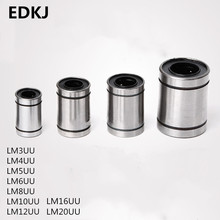 цена на 10pcs/lot LM3UU LM6UU LM8UU LM10UU LM16UU LM12UU  Linear Bushing 8mm CNC Linear Bearings for Rods Liner Rail Linear Shaft parts