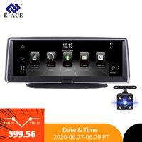 E ACE E04 8 Inch 4G Android Dual Lens Car DVR GPS Navigator ADAS Full HD 1080P Dash Cam Auto Video Registrar Navigation Recorder