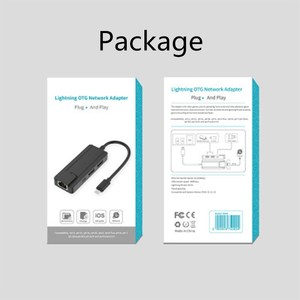 Image 5 - Lightning To Ethernet 100Mbps RJ45 Mạng Và Cổng USB OTG Cho iPhone iPad Pad Pro/Air/Mini