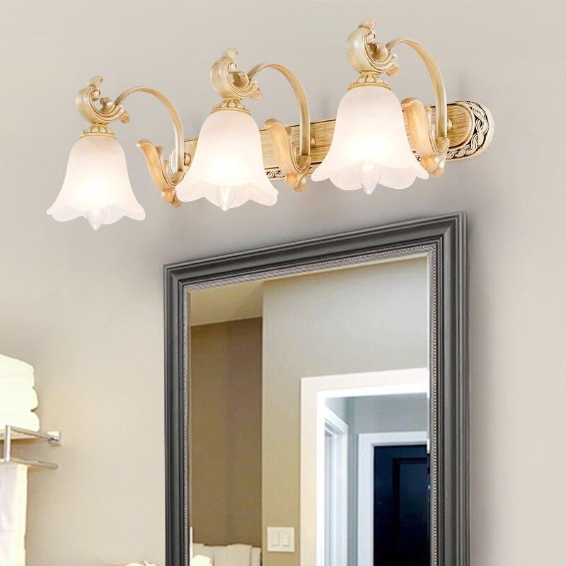 Lámpara de pared de espejo europeo, lámpara de espejo led para baño, lámpara de pared para baño, lámpara de pared para lavabo de baño wl4191024