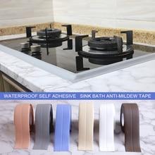 Sink Bath Tape PVC Sticker Waterproof Sealing Tape for Bathroom Kitchen PVC Wall Stickers Sealant Tapes Mildew Resistant Tape