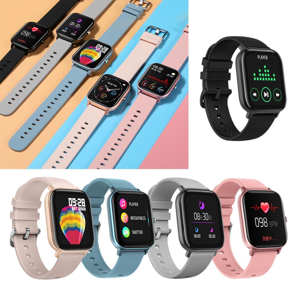 IP67 P8 Smart Watch Wristband Men Women Sport Clock Fitness Heart Rate Monitor Sleep Monitor Smartwatch tracker for phone Color 1