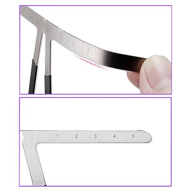 DIY Eyebrow Ruler Makeup Shaping Position Measure Tools Metal Tattoo Shaping Stencil Permanent Makeup Caliper Eyebrow Ruler 2