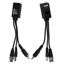 1 Pair 3 in 1 Plug BNC maschio a RJ45 o Video Power Balun Transceiver per telecamera CCTV