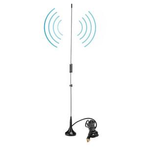 SOONHUA Car UHF VHF Dual Band Antenna Magnet Base SMA Male Stable Signal Antennas For Yaesu VX-2R VX-3R VX-6R Walkie Talkie