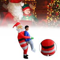 Inflatable Santa's Hug Funny Christmas Costume Santa Suit Inflatable Santa's Hug Costume Cosplay Performance Clothing