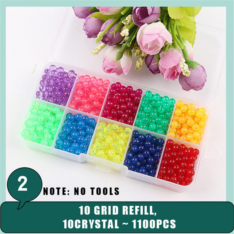 Wholesale 500pcs Refill Beads DIY Magic Puzzle Craft Colorful Creativity Water Beads Accessories Educational Toys for Children