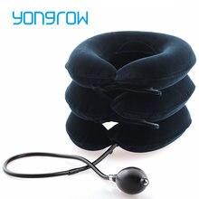 Yongrow-soporte médico de tracción para cuello, 3 capas, alivio Cervical, corrección de postura del cuello, estiramiento del cuello