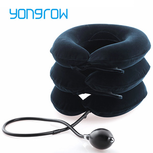 Yongrow medical Neck Traction Collar Neck Support Brace 3 Layers Cervical Relief Neck Posture Correction Neck Stretching Brace