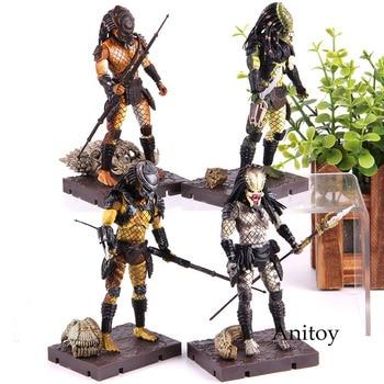 Aliens Predator 2 Shaman Scout Lost Stalker Mini Predator Aliens Action Figure PVC Collection Toy фото