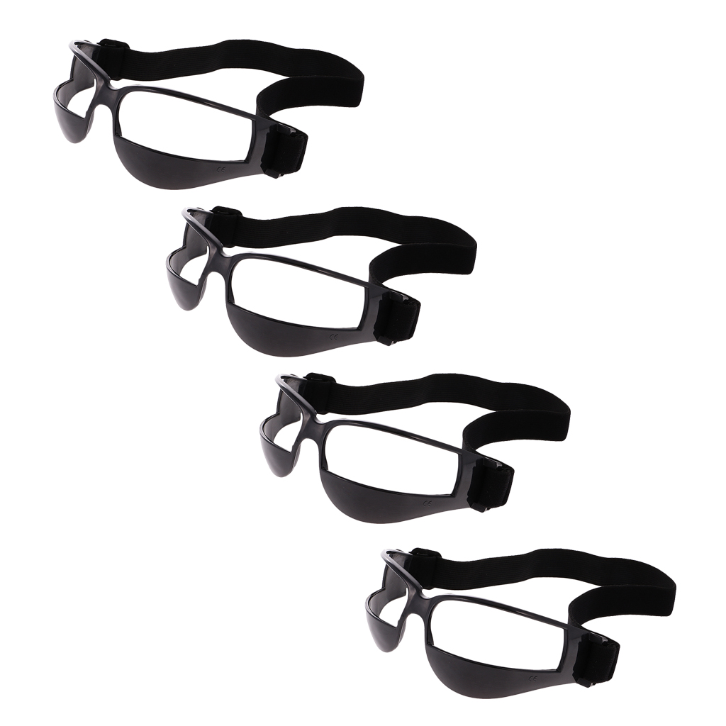 Pack Of 4, Dribble Specs No Look Basketball Eye Glass Wear Goggles (Black)
