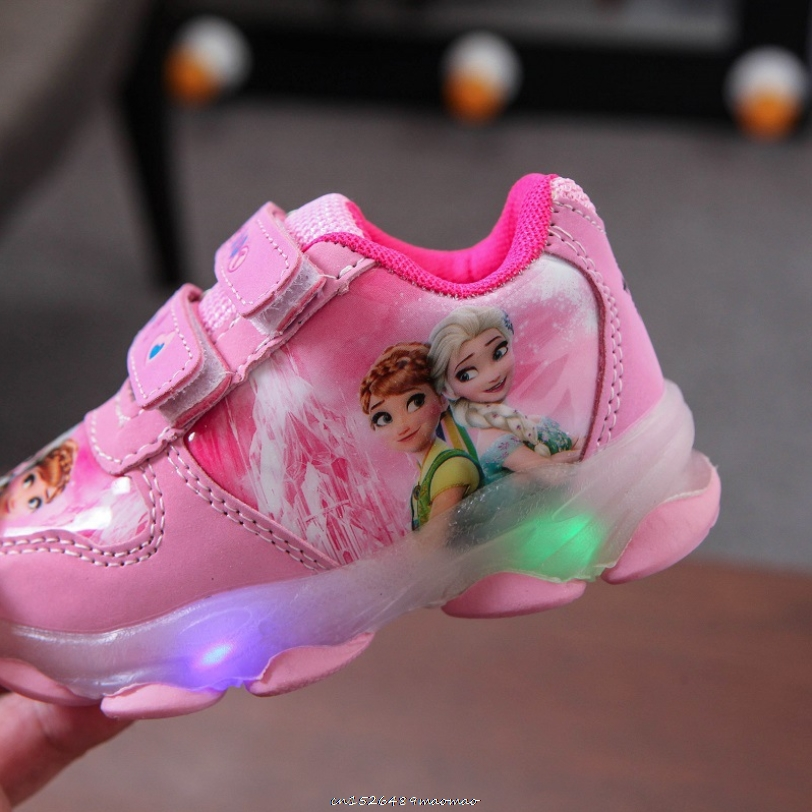 Ботинки детсветильник светодиодные с пряжкой, Мультяшные легкие кроссовки для мальчиков и девочек, повседневная обувь для малышей, Уличная...