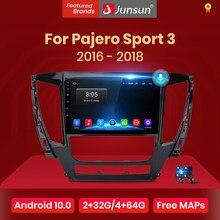 Junsun V1 Pro 2G 128G Android 10 Voor Mitsubishi Pajero Sport 3 2016 - 2018 Auto Radio multimedia Video Player Gps 2 Din Dvd