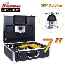 Видеокамера syanspan для осмотра труб с вращением на 360 градусов