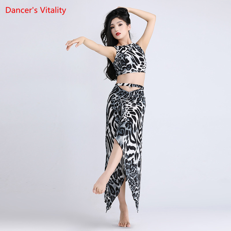 New Lady Belly Dance Costume Practice Belly Dance Sets Wear Mesh Skirt Oriental Dance Belly Dance Top&skirt Dancing Dress Suit