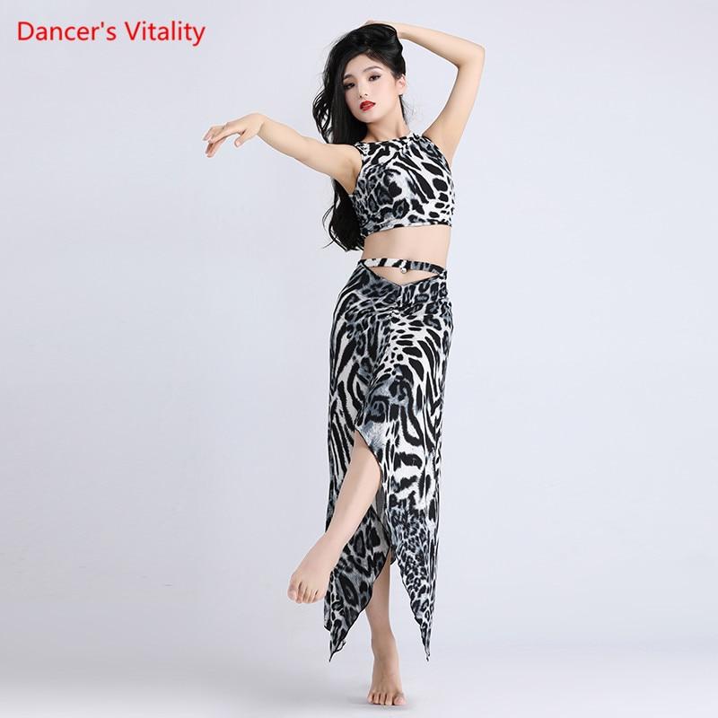 New Lady Belly Dance Costume Practice Belly Dance Sets Wear Mesh Skirt Oriental Dance Belly Dance Top&skirt Dancing Dress Suit