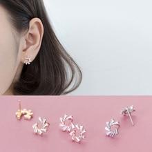 La Monada Stud Earrings For Women Silver 925 Romantic Snowflake Fine In Jewelry Sterling
