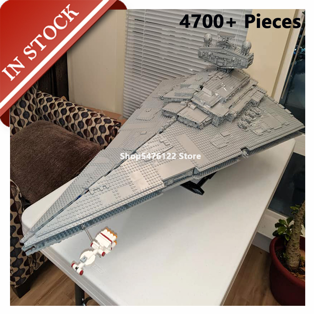 Star Serie Wars Imperial Star Destroyer 75252 81098 In Lager Gebäude Block 4700 + Pcs Bricks UCS Moive <font><b>05027</b></font> 10030 81029 11447 image