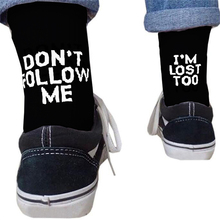 Drop ship men funny socks Harajuku humor word printed socks summer cre
