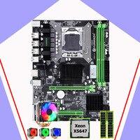 HUANANZHI X58 Pro anakart CPU RAM seti marka anakart CPU Intel Xeon X5647 2.93GHz 6 heatpipes soğutucu RAM 32G (2*16G)|Anakartlar|   -