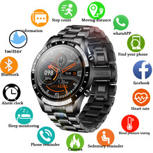 LIGE 2020 Full circle touch screen cinturino in acciaio di lusso Bluetooth call Men smart watch impermeabile Sport Activity fitness watch box