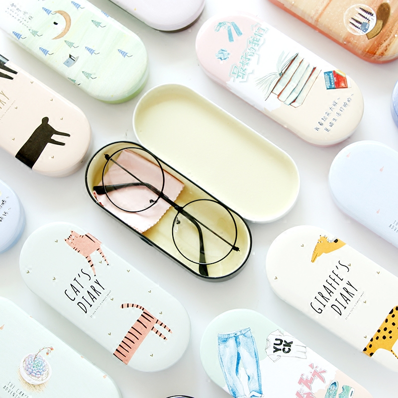 High Quality Cartoon Cat Glasses Case  Lovely  Hard Glasses Case Cute Eyeglass Sunglasses Protector Box Girls Spectacle Case