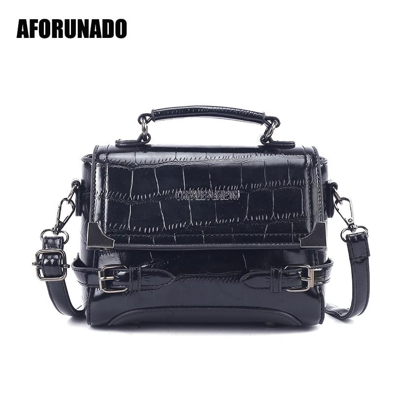 Luxury Handbags Women Bags Designer Vintage Crocodile Patter High Quality Shoulder Bags Elegant Crossbody Bags For Women 2019