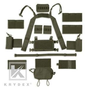 Image 5 - KRYDEX MK3 taktik göğüs Rig Mini Spiritus Airsoft avcılık yelek Ranger askeri taktik taşıyıcı yelek dergi kılıfı ile