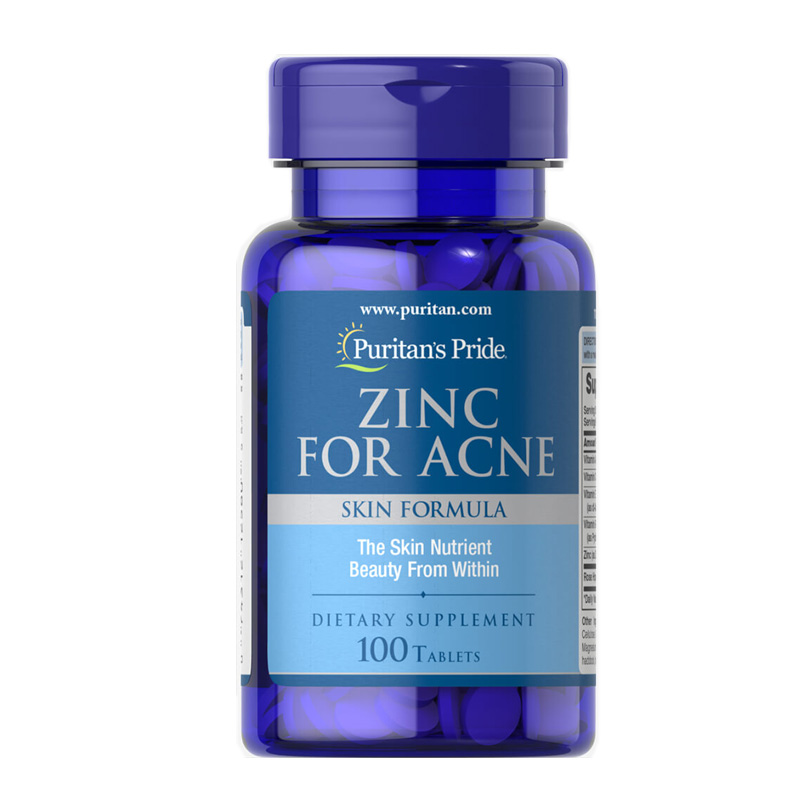 Free Shipping ZINC FOR ACNE The Skin Nutrient Beauty From Within 100 Pcs