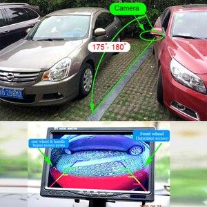 Image 2 - XCGaoon CCD 180 degree Fisheye Lens Car Rear Side front View Camera Wide Angle Reversing Backup Camera Night Vision Waterproof