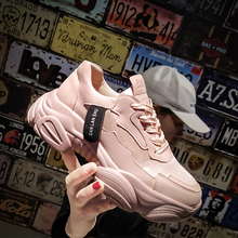 Pink Sneakers Women 2019 Chunky dames Fashion Baskets femme White Brand High Platform