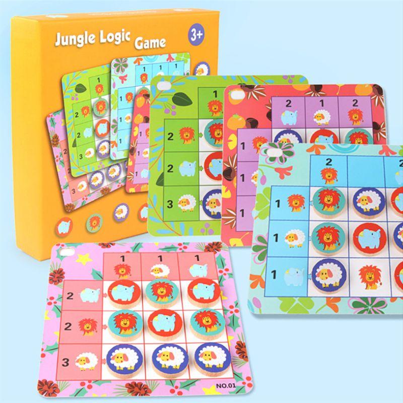Jungle animaux logique jeu de société jouets pour enfants Montessori interactif créatif famille fête cadeau Y4QA
