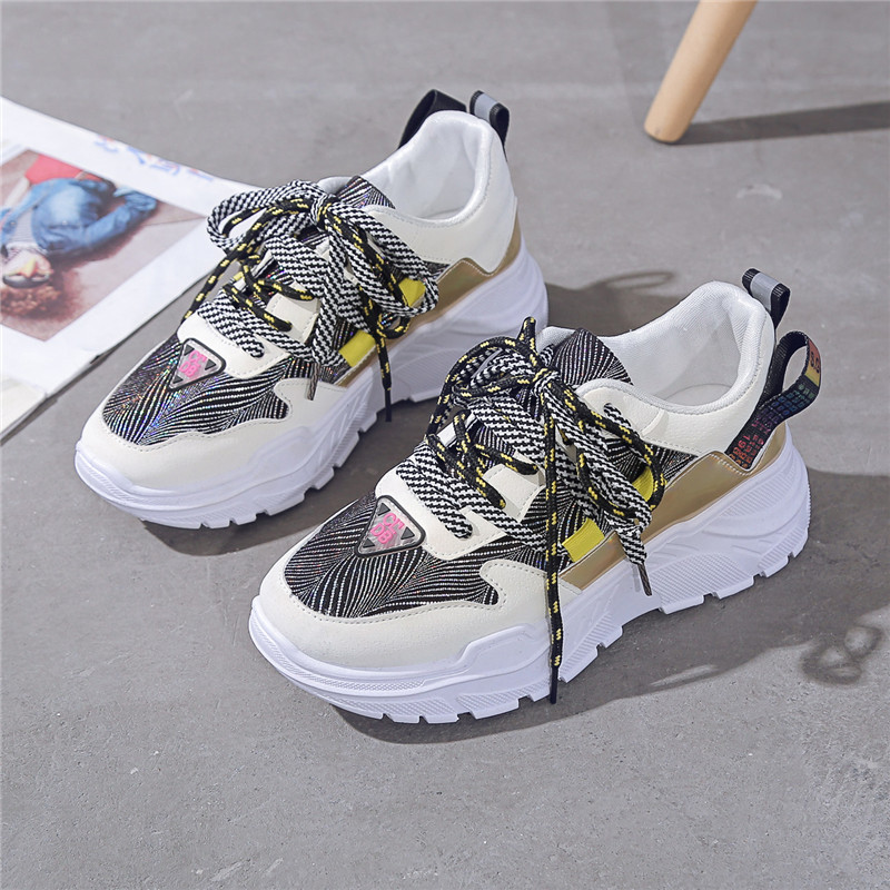 Women shoes net red dad shoes female Nice winter ladies wild casual increased vulcanized shoes platform chunky basket sneakers