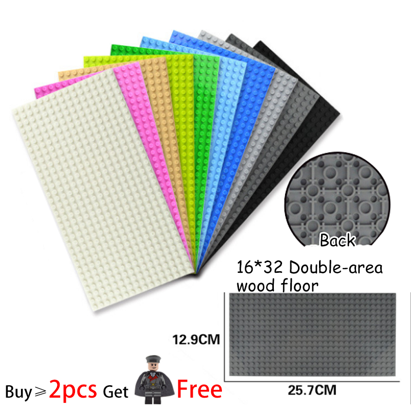 32*16 Small Dots Double-sided Baseboard For Micro Brick Parts DIY Building Blocks Compatible Base Plate Block Toys For Kid Toys