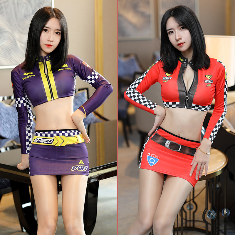 Racing girl uniform Cosplay Stage nightclub costumes D.VA bathing suit Cosplay <font><b>3D</b></font> printin <font><b>Sexy</b></font> girl lady <font><b>cartoon</b></font> erotic pajamas image