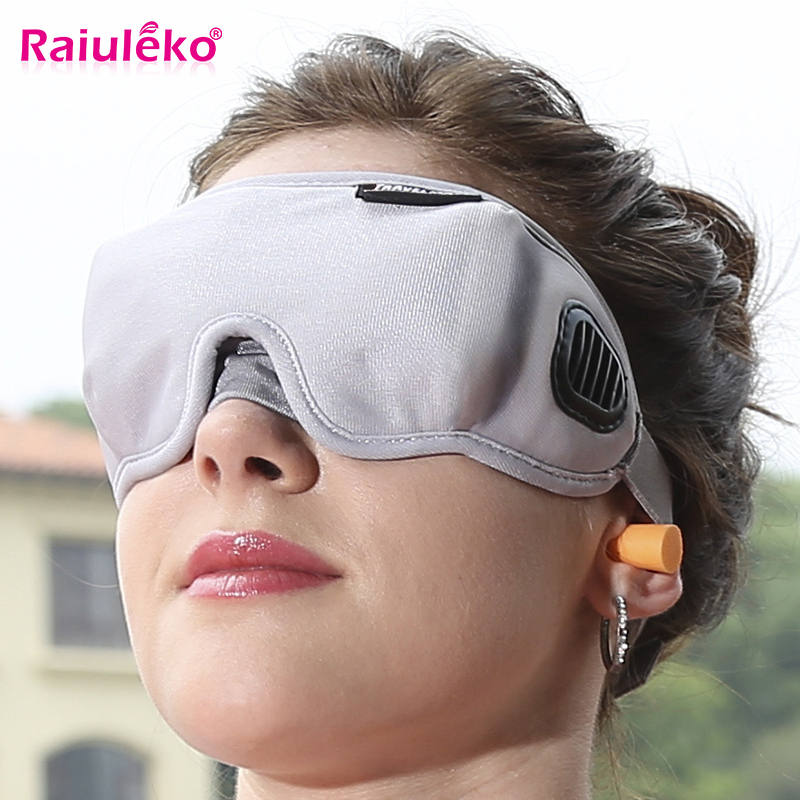 High-Grade Fabric EyeShade Portable Sleeping Eye Mask Eyepatch Padded Shade Cover Eye Mask Night Rest Blindfold Sleep Bandage
