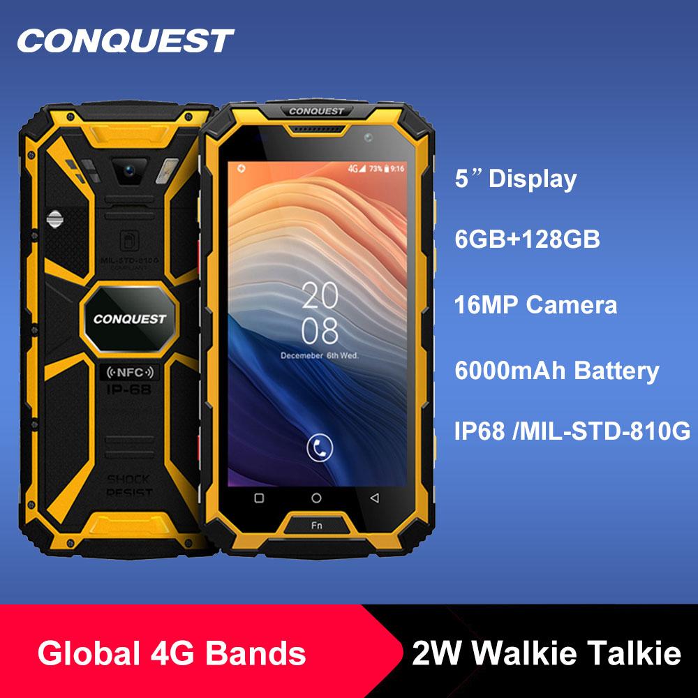 Водонепроницаемый смартфон CONQUEST S8 IP68, 6 + 12 Гб, Android 7,1, 8 ядер, NFC/IR/SOS/OTG/FM