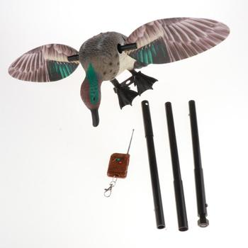 Vivid Motion  Decoy Hunting Spinning Wing Mallard Drake Female Duck Garden Pond Decor Teal Toy with Remote 5