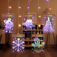 Led-Light String Holiday-Decor Letters Christmas-Garlands Fairy Wedding Party Santa-Claus