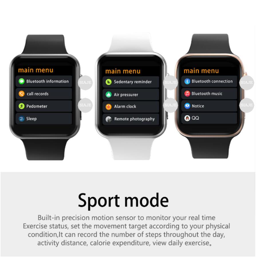 50% hors montre intelligente série 4 44mm horloge Push Message connectivité Bluetooth pour téléphone Android IOS apple iPhone 6 7 8 X Smartwatch