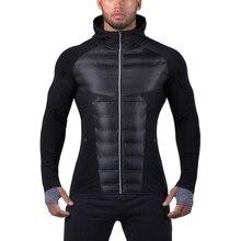 Фитнес-зимняя мужская теплая хлопковая стеганая одежда легкая спортивная хлопковая стеганая куртка мужская спортивная одежда
