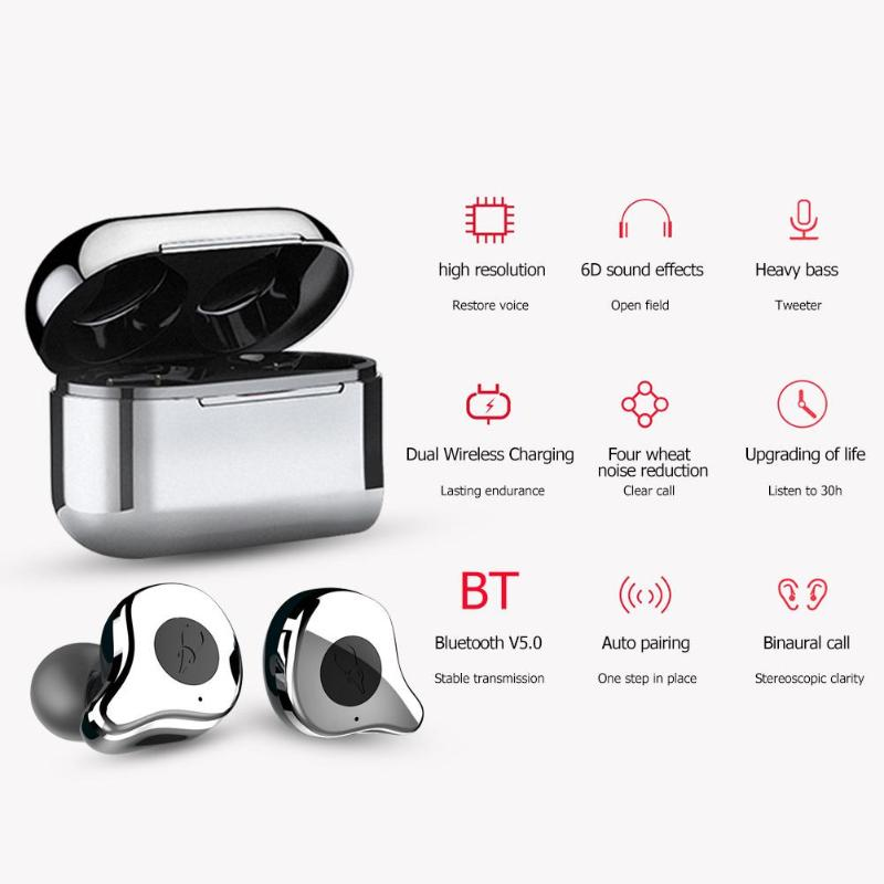 Mifo O5 plus, мини TWS, наушники, беспроводные, Bluetooth, наушники, водонепроницаемые, спортивные, HiFi, бас, стерео, шумоподавление, вкладыши - 3