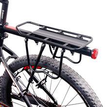 Deemount Fahrrad Gepäckträger Cargo-Gepäckträger Regal Radfahren Tasche Ständer Halter Stamm Fit 20-29 #8220 Mtb amp 4 0 #8220 fett Bike cheap CN (Herkunft) Cargo Racks Aluminium L54*W14cm V Bremse 50KG RCK-103 Mainly Alum Alloy Mainly Black Coating 20 -29 Bike