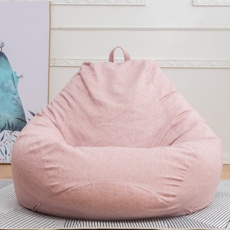 Small Lazy Large Bean Bag Sofas Cover Chairs without Filler Linen Cloth Lounger Seat Bean Bag Pouf Couch Living Room Products